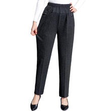 Plus Size 2019 Spring Summer Middle Aged Women Elegant Straight Pants Female Casual High Waist Trousers Femme Pantalon spring summer middle aged women pants elegant high waist solid color pant casual straight trousers pantalon femme plus size 4xl
