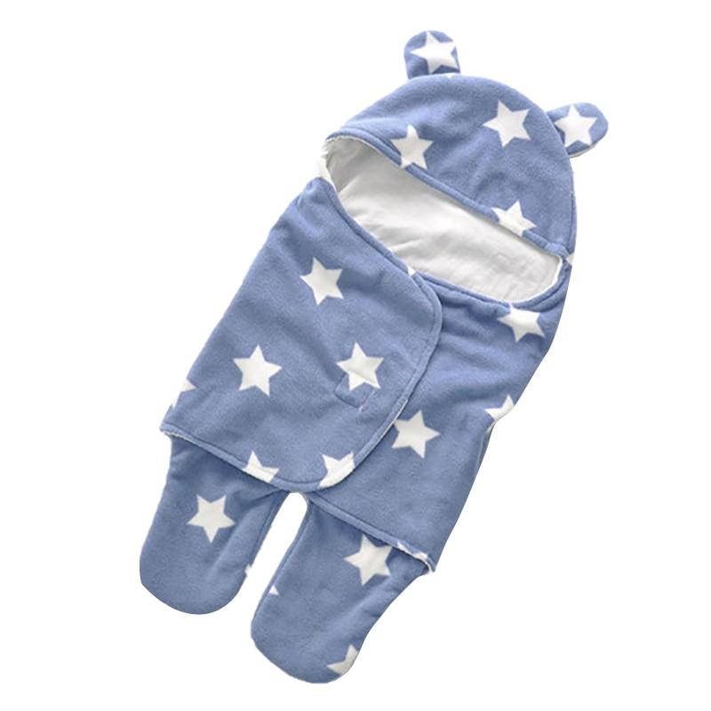 FBIL-Spring Autumn Thin Infant Swaddle Baby Sleeping Bag For Newborns Double Layers Baby Sleep Sacks Baby Pram Blankets