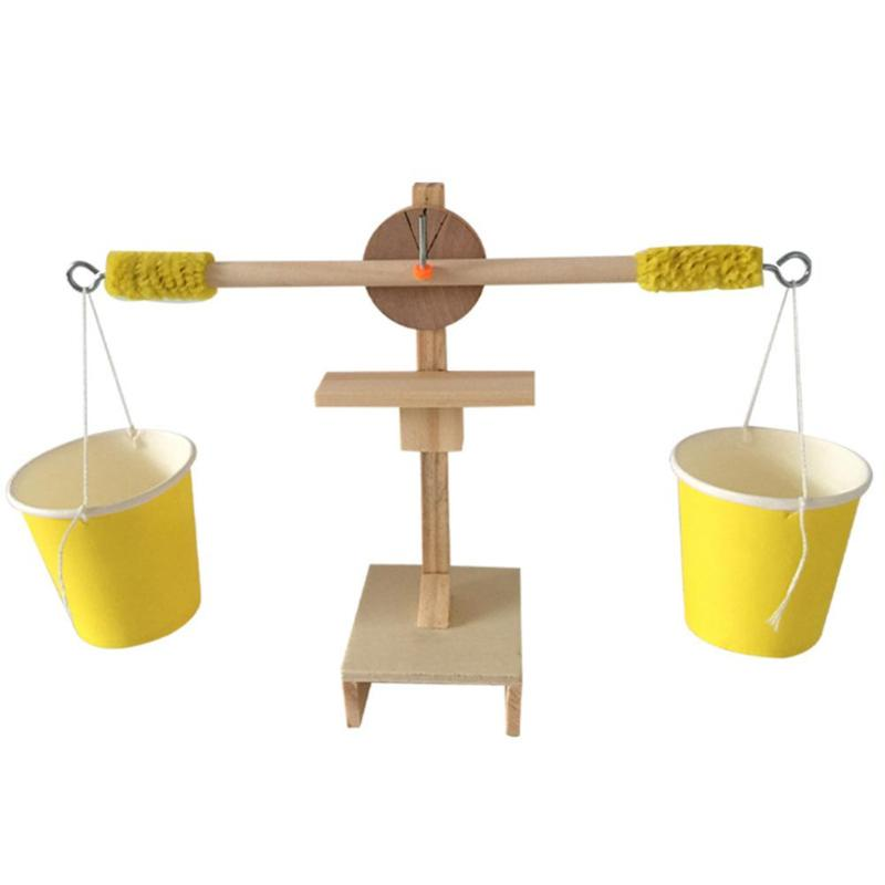 Kids Wood DIY Balance Scale Weigh Kit Model Science Experiment Toys For Children Early Educational Birthday Christmas Gifts