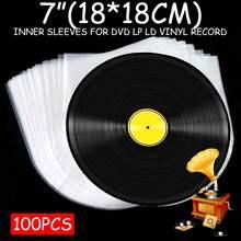 """100 шт. """" виниловая пластмассовая пленка для пластиковой записи LP, Антистатическая пленка для записи, внешняя внутренняя пластиковая прозрачная крышка, контейнер"""