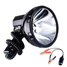 SOLLED lámpara de xenón de alta potencia para caza, vehículo de la patrulla de pesca, H3, reflector HID, 220W, foco de Hernia