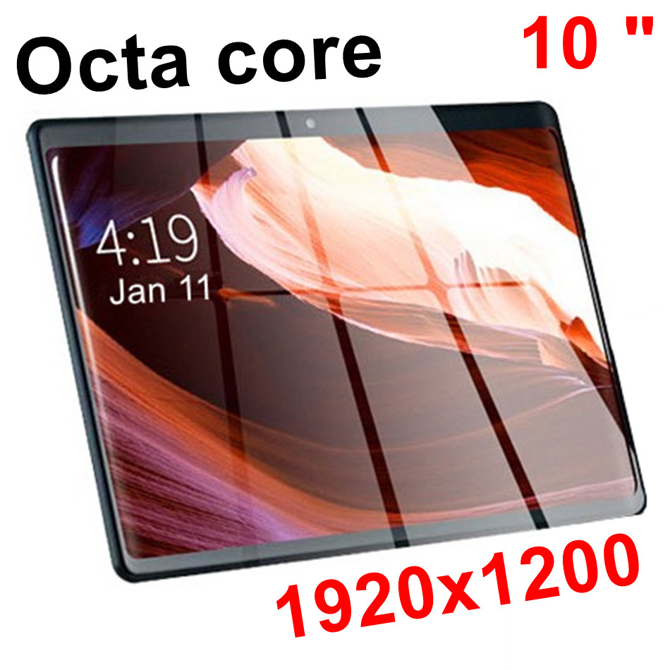 Super 2.5D IPS 10 Inch Tablet MT6753 Octa Core 32GB/ 64GB IPS Tablets Pc 1920x1200 IPS Android 7.0 Nought 10 10.1