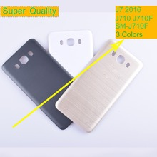 10Pcs/lot For Samsung Galaxy J7 2016 J710 SM-J710F J710FN J710M J710H Housing Battery Cover Back Cover Case Rear Door Chassis samsung sm j710fn galaxy j7
