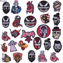 Prajna Film Venom Stickerei Patches Moral Abzeichen Diy Kleidung Patch Eisen Auf Spartan Krieger Soldat Deadpool Mode Diy H(China)