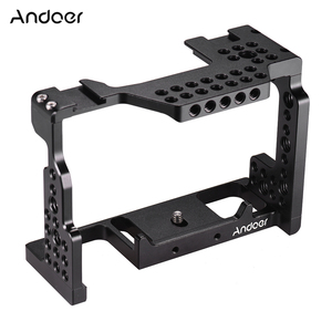 Image 1 - Andoer Camera Cage Video Film Movie Making Stabilizer 1/4 Inch Screw with Cold Shoe Mount for Sony A7II/A7III/A7SII/A7M3/ Camera