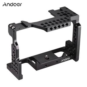Image 1 - Andoer Camera Kooi Video Film Movie Maken Stabilisator 1/4 Inch Schroef met Koud Shoe Mount voor Sony A7II/A7III /A7SII/A7M3/Camera