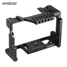 Andoer caméra Cage Film vidéo Film stabilisateur 1/4 pouces vis avec support de chaussure froide pour Sony A7II/A7III/A7SII/A7M3/caméra