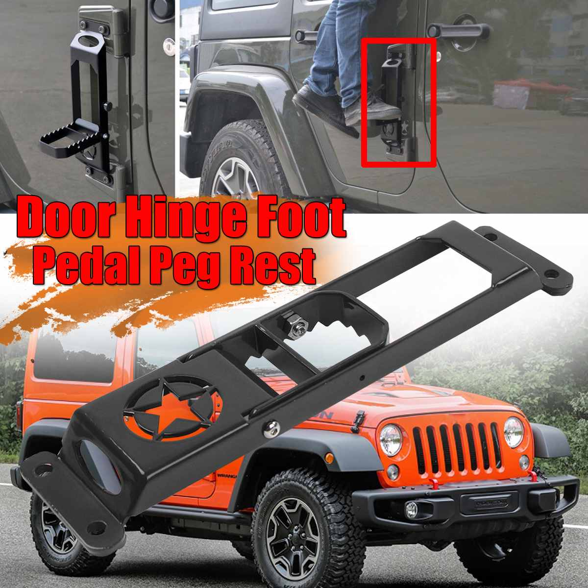 Exterior Door Panels & Frames Back To Search Resultsautomobiles & Motorcycles Systematic New Car Folding Door Hinge Foot Pedal Peg Rest For Jeep For Wrangler Jk 2007-2017 2/4dr Door Hinge Step Metal Folding Foot Peg