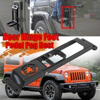 New Car Folding Door Hinge Foot Pedal Peg Rest For Jeep For Wrangler JK 2007 2017 2/4dr Door Hinge Step Metal Folding Foot Peg