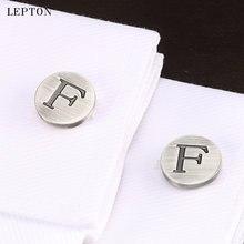 Лептон буквы алфавита f запонки для мужчин классические античные