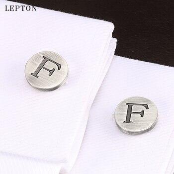 Heren Overhemd Met Manchetknopen.Lepton Letters Van Een Alfabet F Manchetknopen Voor Heren Klassieke