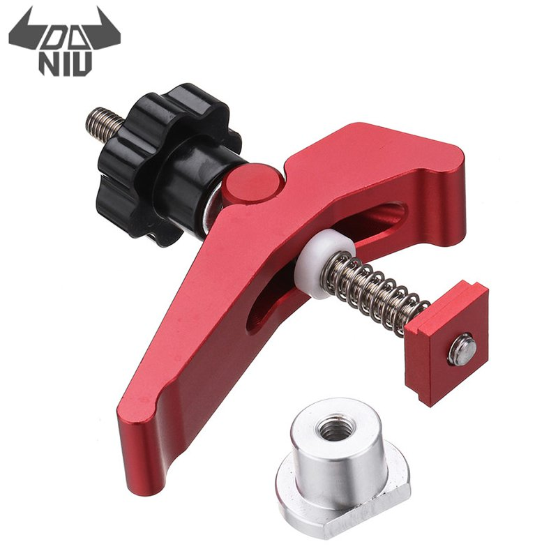 DANIU Durable Aluminum Alloy Quick Acting Hold Down Clamp T-Slot T-Track Clamp Set DIY Woodworking Tool Top Quality
