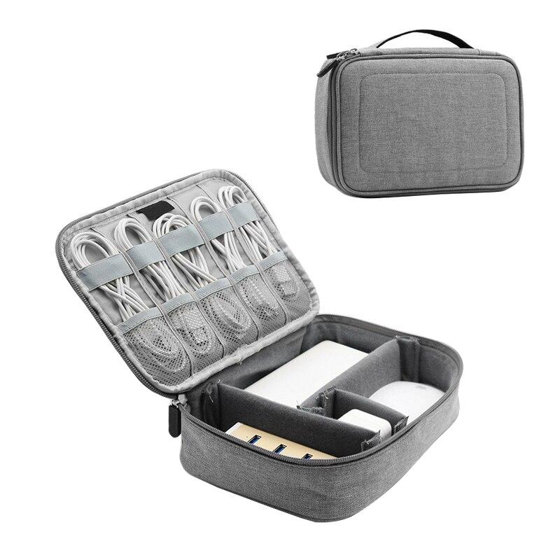 נסיעות USB כבל גאדג 'טים Zip תיק נייד דיגיטלי כונני כוח בנק מחזיק SD כרטיסי אוזניות חוטים פאוץ פריטים ציוד אבזרים
