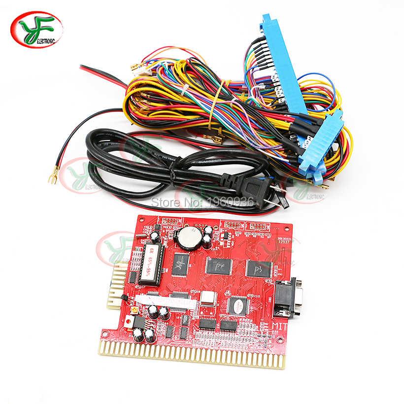 لوحة ألعاب البوكر متعددة 6x فتحة PCB كازينو آلة القمار اللوحة فوز معدل 60 إلى 95% مع 36PIN + 10PIN سلك تسخير