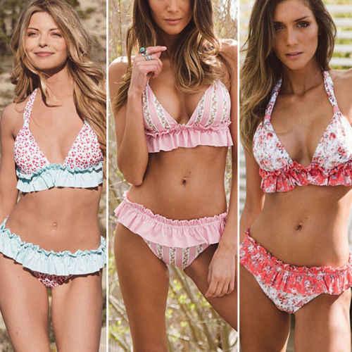 Itfabs Wanita Bikini Set Perban Push-Up Padded Baju Renang Seksi Baju Renang Mandi Brasil