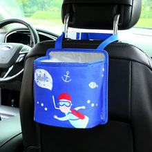 1 Piece Car Styling Cute Cartoon Back Seat Organizer Storage Bag Drink Cup Holder