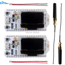 2pcs 0.96 OLED Display Module ESP32 WIFI Bluetooth Transceiver SX1276 Lora Module IOT 868/915MHz with Antenna JST Con 2pcs lora radio node v1 0 915mhz rfm95 sx1276 wireless node module