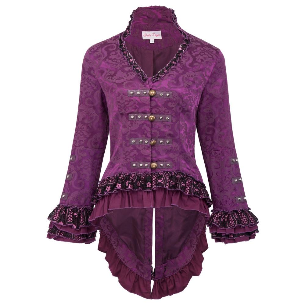 Vintage Manteau Black Hauts Veste purple Split Jacquard Retour Corset Noce Victorienne red Rétro Dentelle Femmes De Style Agrémentée Médiévale En RpqIa