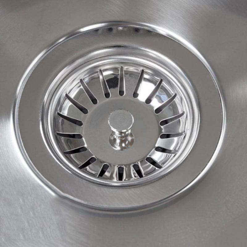 NEW Stainless Steel Kitchen Sink Strainer Stopper Sewer Waste Plug Sink Filter Bathroom Hair Catcher Wash Basin Accessories