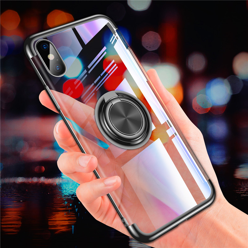 Ottwn Case For iPhone 8 7 6 6s Plus Magnetic Ring Stand Car Holder TPU Cover Protective Full Phone Case For iPhone X XS MAX XR iphone xr case magnetic