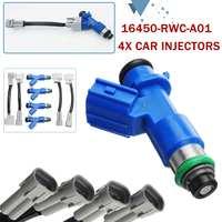 4Pcs 16450 RWC A01 410cc Car Fuel Injector for Honda for Acura for RDX 410cc B16 B18 K20 K24 for CIVIC EG EF EK RC Gray+Blue