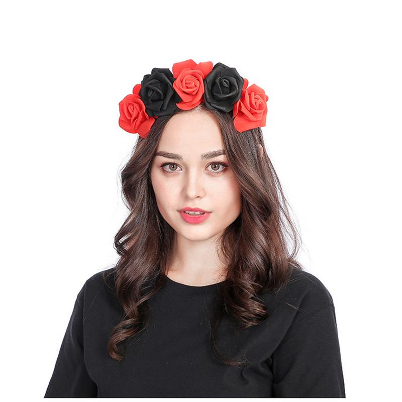 Girls' Clothing Hair Accessories Collection Here New Diy Headdress Hair Accessories Flocking Cloth Red Rose Pink Flower Hair Clip Hairpin For Bridal Wedding Party 10 Colors Quality And Quantity Assured
