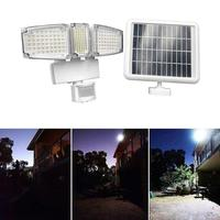 178/188 LED Solar Panel Light Triple Head Solar PIR Sensor Wall Lamp Solar FloodLight Waterproof Solar Emergency Security light