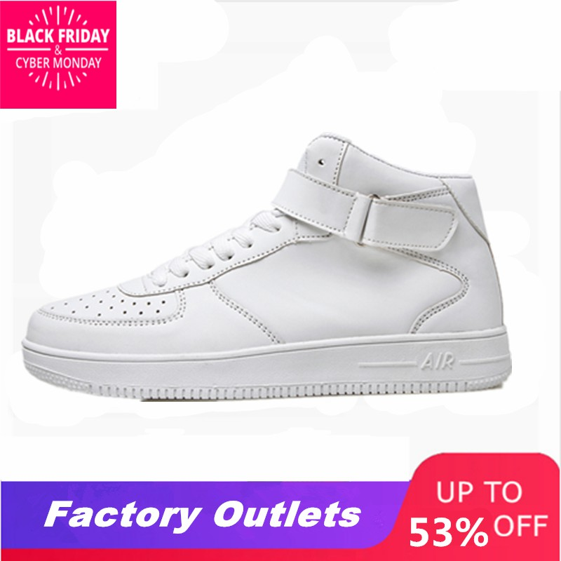 Shoes Basket Skateboarding-Shoes Men Sneakers Tennis Forceing White Air-High Sport Male title=