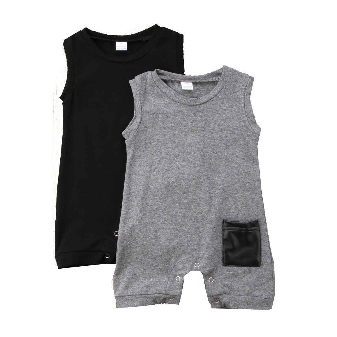 2019 Bebek Yenidoğan Bebek Çocuk erkek Romper Tulum Tulum Bodysuit Kıyafetler Giysileri
