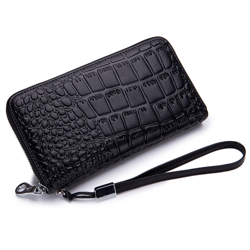 Coin Purses & Holders Women Crocodile Leather Clutch Handbag Bag Coin Purse Clutch Female Purse New Fashion 2019 Soild Portefeuille Femme Black Blue Latest Technology Coin Purses