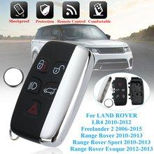 5 tasto Chiave A Distanza Caso di Borsette con CR2032 Batteria per LAND ROVER LR4 Range Rover Sport Evoque Freelander 2 2006 -2015