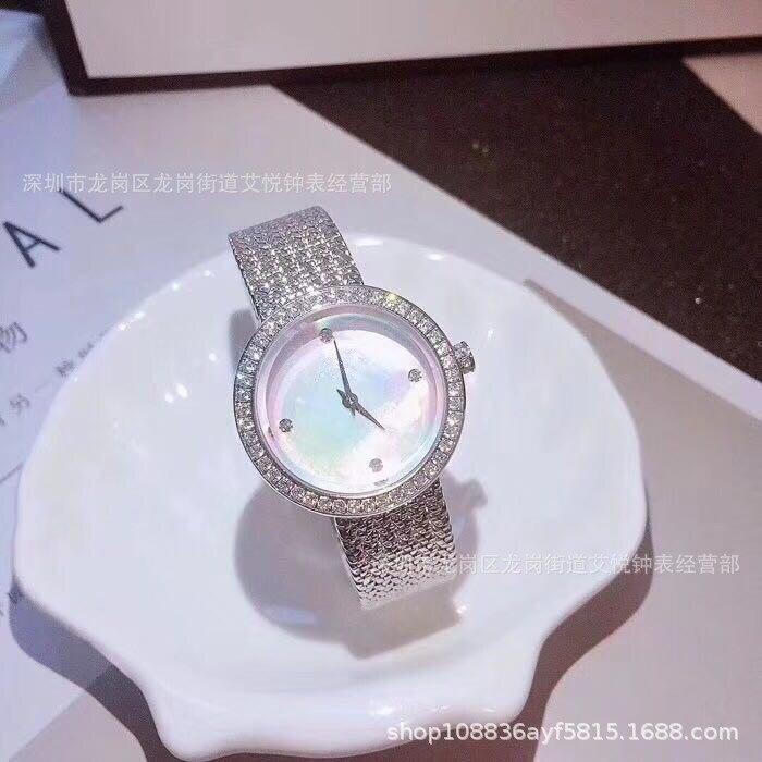 La nouvelle mode coréenne édition exquise montre-bracelet avec perceuse petit cadran fille étanche montre à quartz