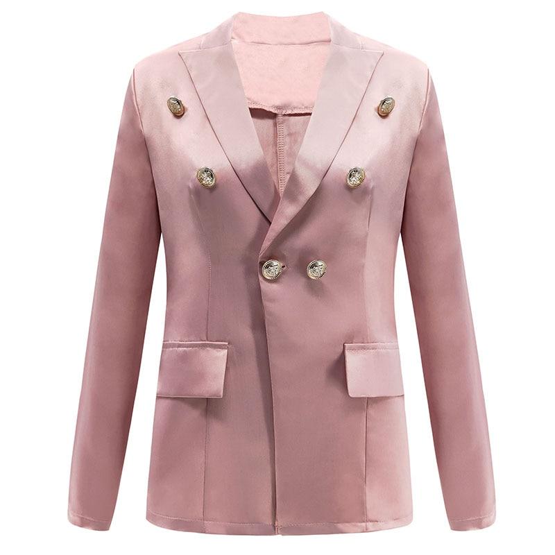 Frauen Solide Blazer Jacke Langen Ärmeln Zweireiher Frauen Blazer Und Jacken Casual Business Anzug Strickjacke Mantel Outwear Frauen Kleidung & Zubehör