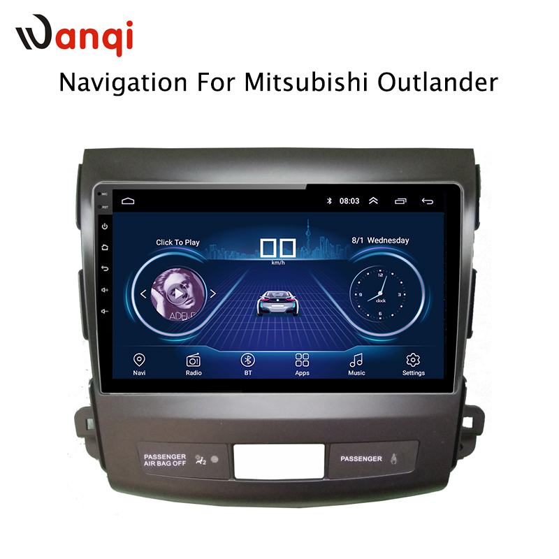 9 inch Android 8.1 full touch screen car multimedia system For Mitsubishi Outlander 2006 2012 car gps radio navigation