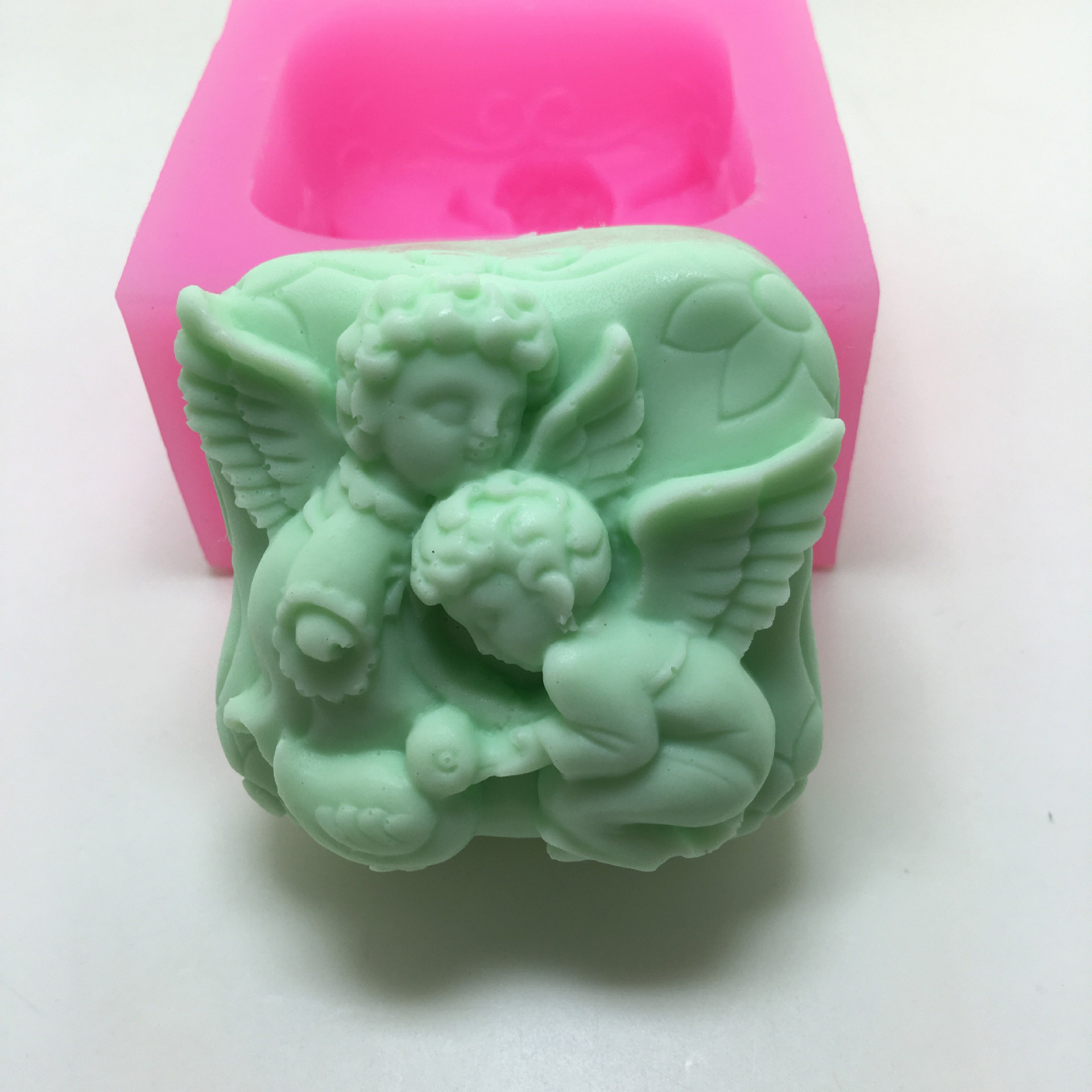 abstract angel silicone mold cake decoration manual soap making