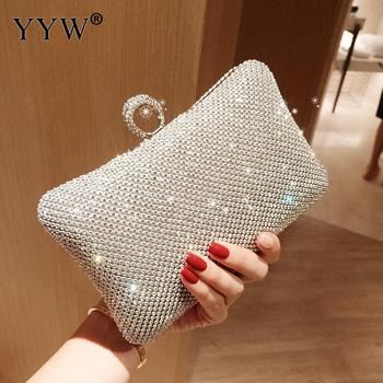 Ladies Evening Party Clutch Bag Evening Clutch Handbag Chain Women Wallet Purse for Cellphone Lipstick Wedding Clutch Silver new soft diamond silver chain woman evening bag women rhinestone crystal day clutch lady wallet wedding purse party banquet