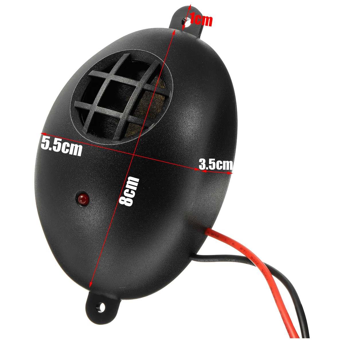 Car Vehicle Ultrasonic Mouse Repeller 12V DC 20-70KHZ Ultrasound Pest Controller Deterrent Tool Semicircular Easy To Install