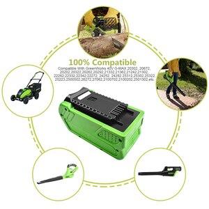 Image 5 - Bonacell 40V 6000mAh Sostituzione Della Batteria Ricaricabile per Creabest 40V 200W GreenWorks 29462 29472 22272G  MAX GMAX L30