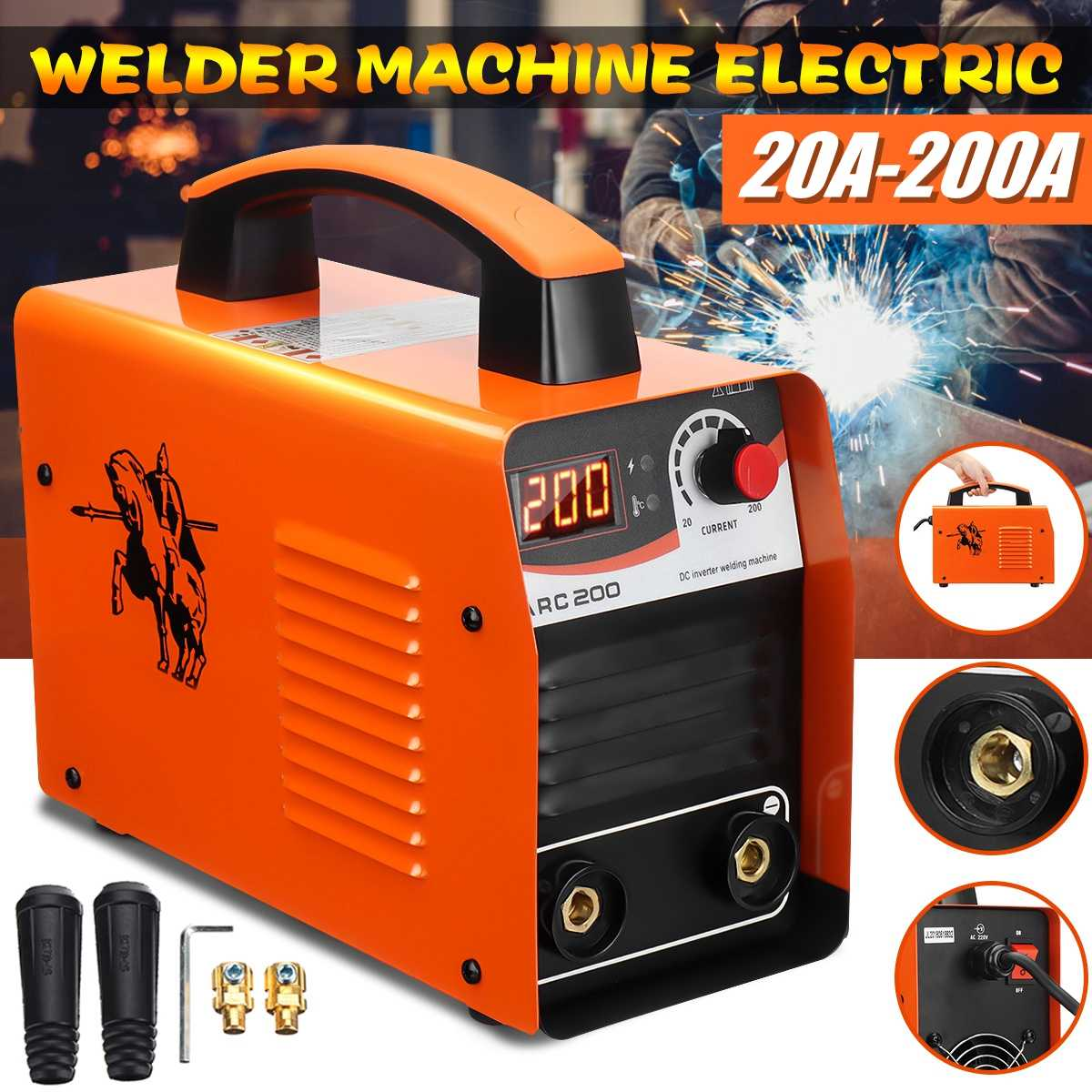 20-200A 25KVA IP21 Inverter Arc Electric Welding Machine IGBT/MMA/ARC/ZX7 Welder for Welding Working and Electric Working20-200A 25KVA IP21 Inverter Arc Electric Welding Machine IGBT/MMA/ARC/ZX7 Welder for Welding Working and Electric Working