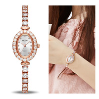 MEGIR Reloj Mujer 2018 Women Luxury Watch Rose Diamond Women Bracelet Watches Ladies Hour Montre Femme Luxe Damen Uhren Dropship