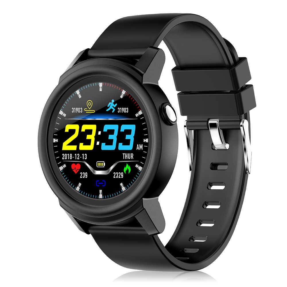 שעון 1.3In IPS מלא מסך עגול כושר גשש שעון IP67 צמיד עם כל-יום לב קצב פעילות מעקב שלב