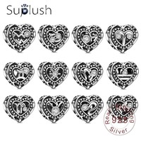 Suplush 925 Sterling Silver Heart Constellations Charms Bead Fit Original Pandora Bracelet Necklace Jewelry DIY Accessories Beads