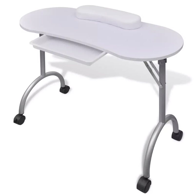 vidaXL Pedicure Manicure Foldable Portable Nail Table Manicure Equipment For Nail Salon With Bag Bea
