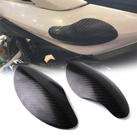 2pcs Motorcycle Protective Guard Cover Real Carbon Fiber Accessories For Yamaha Xmax 125 250 300 400