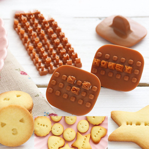 New Embosser Mold Cutter Biscuit Tool Press Mould Molds DIY Cake Cookie Mini Baking Letter Alphabet 1Pc Stamp Moulds