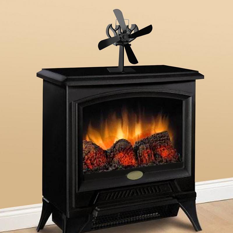Thermo-motive Fireplace Fan Heating Furnace Heat Powered Stove FanThermo-motive Fireplace Fan Heating Furnace Heat Powered Stove Fan