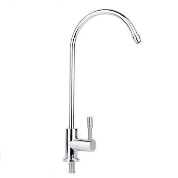 New 360 Degree Chrome Drinking Water Faucet 1/4 Stainless Steel Osmosis RO Water Filter Faucets Reverse Sink ro 7 filter new line