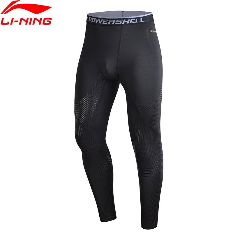 Li-Ning мужские тренировочные брюки с эластичным слоем, плотно прилегающие к сухому комфорту, дышащие спортивные брюки с эластичной подкладко...