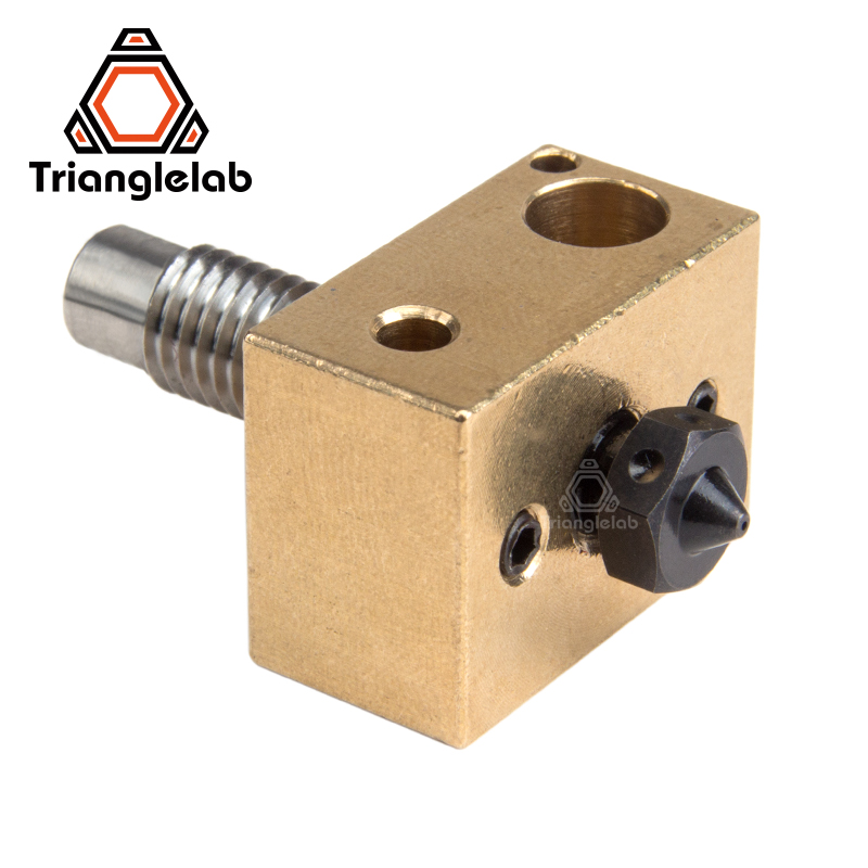 Hardened Steel V6 nozzle +copper brass heater block + titanium alloy heat break high temperature Upgrade kit for V6 HOTEND titan heat assisted machining of hardened steel aisi h13