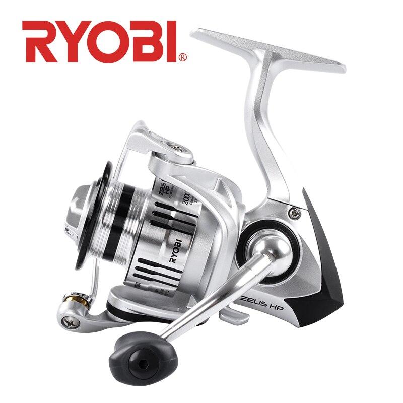 100% original ryobi zeus hp carretel de pesca fiação 6 + 1bb 1000 2000 3000 4000 6000 8000 10kg max arraste carretel pesca carretel